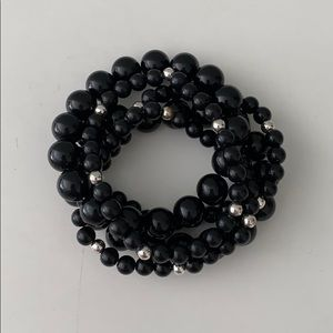 Set of 5 beaded stacking bracelets